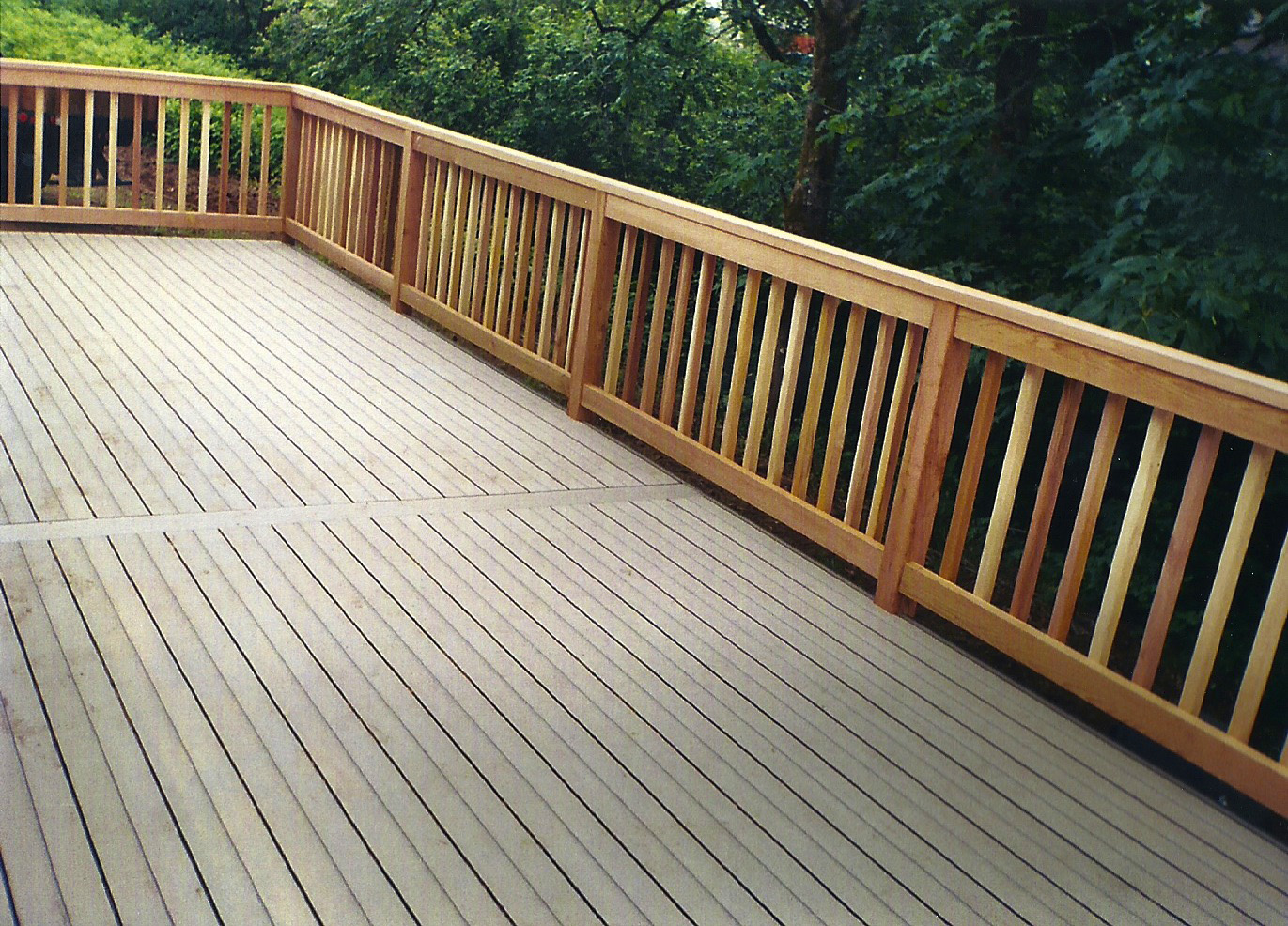 Timbertech composite deck clear cedar railing all for Composite deck railing