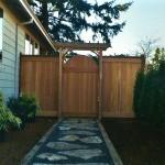 Cedar Fence & Arbor Gate