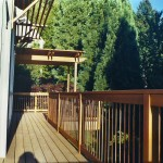 Cedar Deck, Cedar Pergola & Copper Pipe Railing