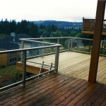 Cedar Deck & Aluminum Railing with Stainless Steel Cables