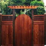 Cedar Arbor Gate & Cedar Fence