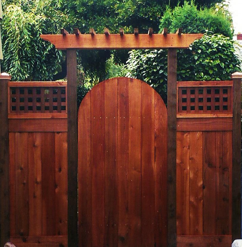 Arbor Over Gate Ideas: Cedar Arbor Gate & Cedar Fence