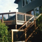 Cedar Deck & Green Pipe Railing