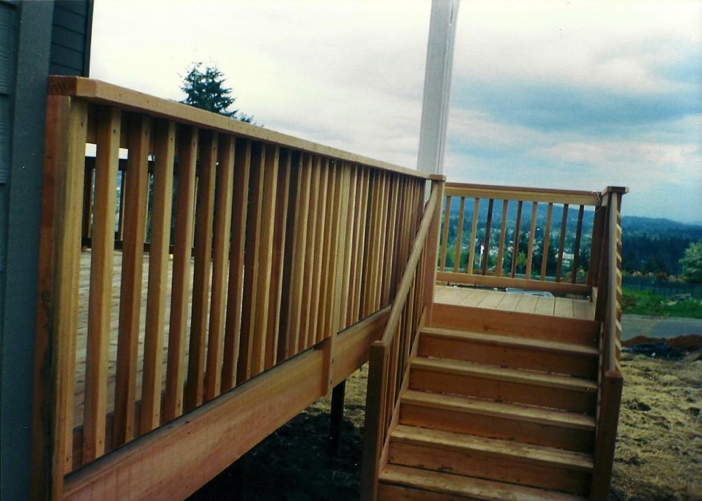 Cedar Deck & Railing   All American Deck & Fencing