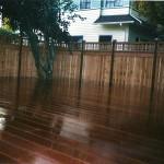 Mahogany Deck & Catelina Letuce Overlap Pictureframe Fence