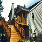 Prestained Cedar Deck and Railing